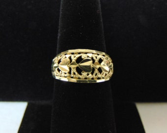 Womens Vintage Estate 10k Gold Filigree Ring 2.0g E2591