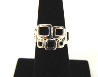 Vintage Estate .925 Sterling Silver Ring, 4.36g E1610