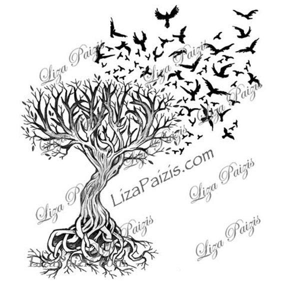 Tattoo Ideas Vita: Disegno Di Liza Paizis Del Tatuaggio Celtico Albero Della Vita