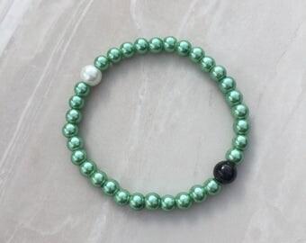 Dead sea bracelet, life balance bracelet, yin yang, high low bracelet, nature bracelet