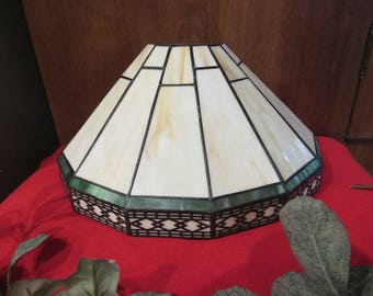 Mission-Style Stained Glass light fixture-Wired