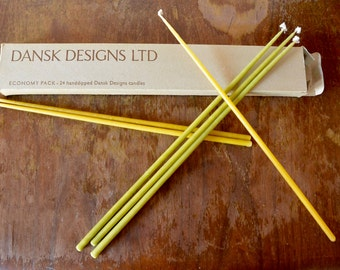 DANSK Tiny Taper Candles - Butterscotch and Citron