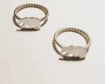 The Bear Ring.  Sterling silver.