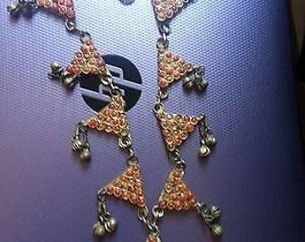 Vintage afghan? brass necklace