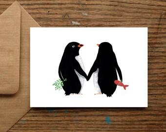 Christmas Love Penguin | Christmas Cards