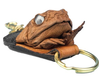 Cane Toad with hands Keychain Fob