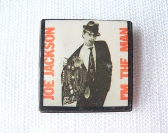 Vintage Late 70s or Early 80s Joe Jackson - I'm the Man Album (1979) Promotional Pin / Button / Badge