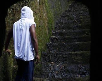 ANGEL WINGS loose comfy lightweight sleeveless men's hoodie