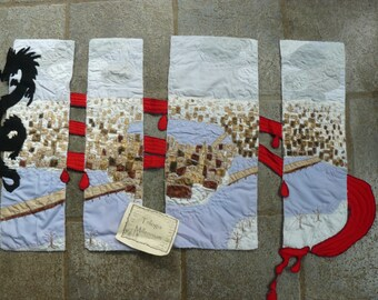 textile panel inspired by the books of the Millennium trilogy