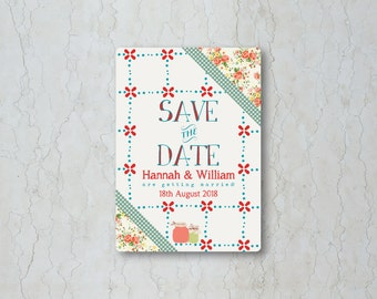 Summer Picnic Save the Date Card or Magnet