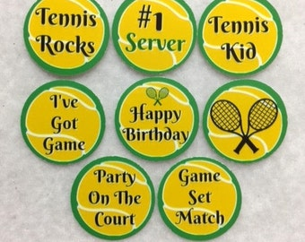 Set Of 50/100/150/200 Personalized Tennis Birthday Party 1 Inch Circle Confetti