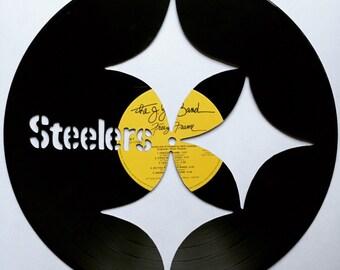 Steelers Framed Vinyl Record Art