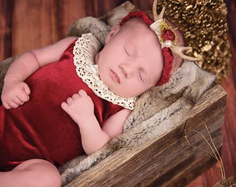 Newborn,Sitter,Deer antler tieback,Spring,Summer,Winter,Fall,MADE TO ORDER,Custom,shipping included in price,