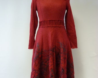 The hot price. Amazing red mohair dress, S/M size.