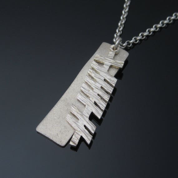 Personalized Ogham Pendant - Ogham Grá (love) pendant - Personalized Irish Jewelry - Designed and Made in Ireland - Free worldwide shipping