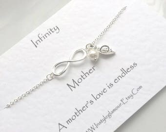 Infinity Bracelet, Bridesmaid Bracelet, Mother Daughter Bracelet,  Sister Bracelet, Bridesmaid Jewellery, Initial Bracelet