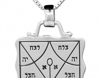 Kabbalah Silver 925 King Solomon Rasiel Success Seal Talisman Kabbalah charm pendant