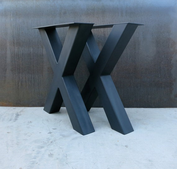 Industrial X Shape Metal Table legs 4x4