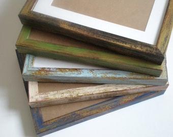 "Chunky frame rustic picture frame 8x8"" photo frame shabby chic 20x20cm wall frames distressed frame art frame wood frame RusticFrameShop"