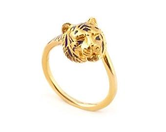 Gold Tiger Ring by Bill Skinner