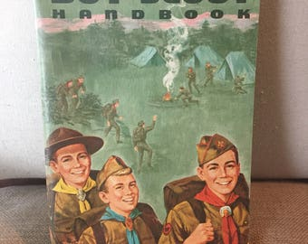 Vintage Boy Scout Handbook 1966 - Retro guide