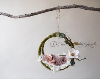 Digital Backdrop Newborn Prop (Magnolia Mossy Swing)