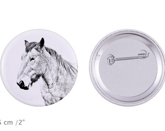 Buttons with a horse -Ardennes horse