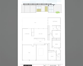 Eichler floorplan print – early flat-top model