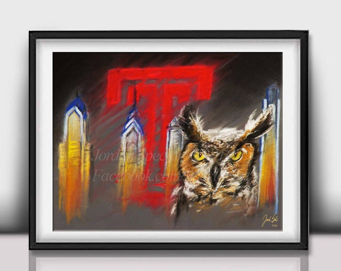 """Temple Owls """"Stella"""" Limited Edition art print - 20x24 inches"""