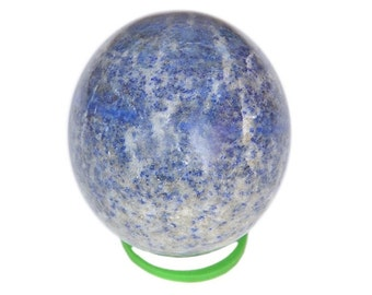 """WholesaleGemShop 3 """" Blue Lapis Lazuli Sphere Natural Crystal Ball Polished Mineral Stone Afghanistan with Free Shipping"""