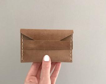Tan Business Card Holder, Wallet