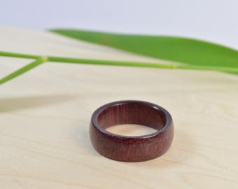 Wooden Ring Purpleheart ~ Natural Wooden Jewelry ~ Size 10