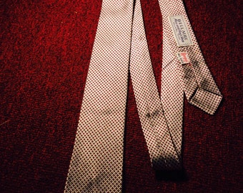 1950's skinny silk tie - made by Bellaire men and boys shop in Bellaire Texas