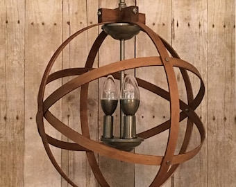 ORB CHANDELIER LIGHT 14 Atomic Light Fixture Industrial