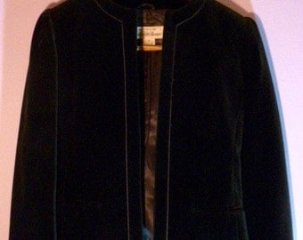 Vintage Saks Fifth Avenue Black Velvet Jacket Ladies Size 4