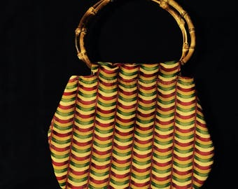 Yellow Red Green Bamboo bag