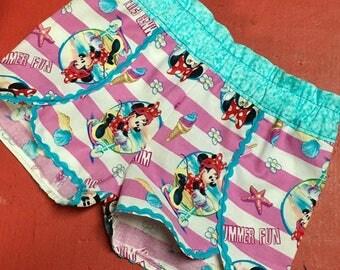 Minnie mouse ice cream scooter Coachella tulip petal shorts Girls 12 M 18M 2T 3T 4t 5 6 7 8 10 12 14 Walt Disney World Land