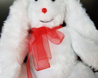 White furry rabbit