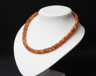 Amber Mix Russian Spiral Necklace