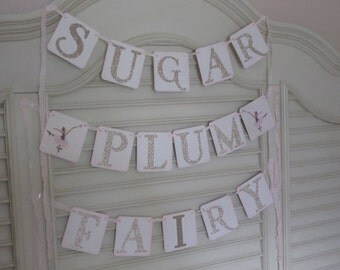 Christmas Sugar Plum Fairy Banner  Christmas Fairy Banner
