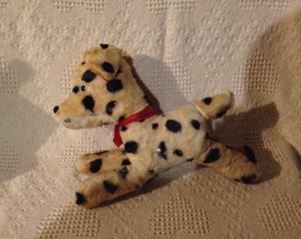 "Vintage Stuffed Dalmatian Dog 14"" tall by 12' Wide"