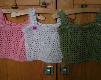 White summer top, baby top, crochet top, crochet baby top, crochet tops