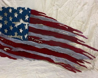 Handcut steel flag