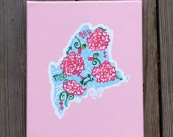 lilly pulitzer sorority state canvas big little gift sorority canvas state canvas state pride sorority state initiation present