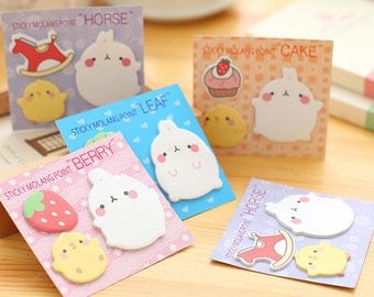 Cute Molang Post it/Stickies~~