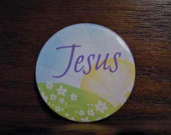 Jesus With Sunshine and Flowers Magnet