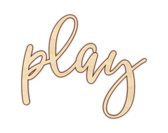 Play - Wood Words - Playroom Decor - Wooden Word - 180123