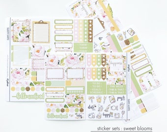 Planner Stickers / Personal Planner / TN Planner / Weekly : Sweet Blooms