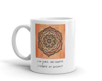 Sacral Chakra Mandala Mug