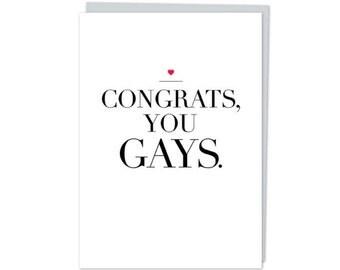 Congrats you gays! Christmas Card